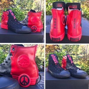 CONVERSE CHUCK TAYLOR HI SEEK PEACE BLACK RED